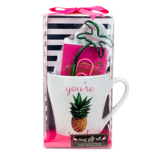 pineapple mug gift set posh and pop