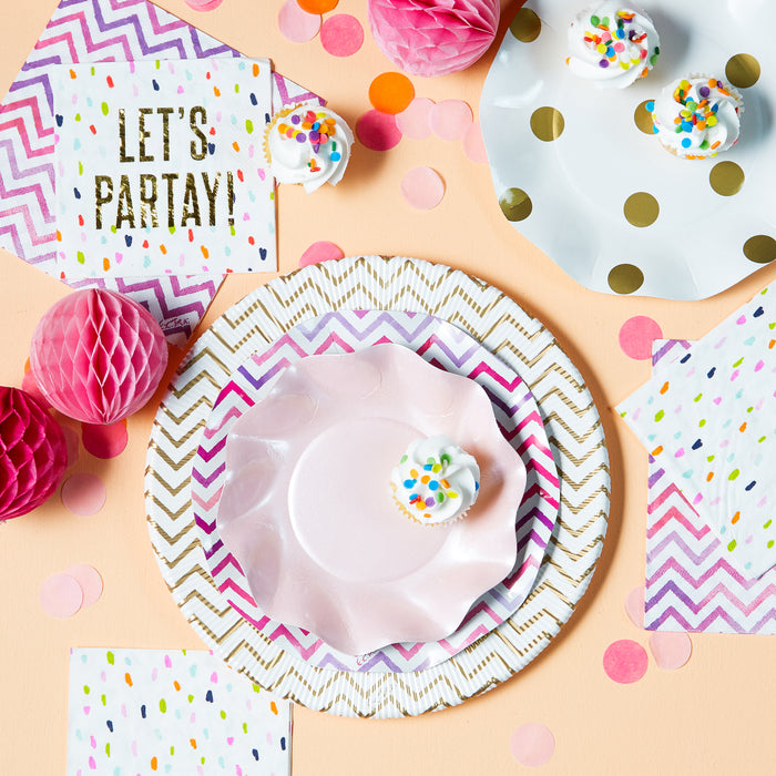napkins-paper-plates-disposable-pink-gold-polkadot-posh-and-pop
