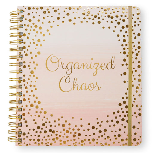 organized chaos pink and gold 17 month planner posh and pop