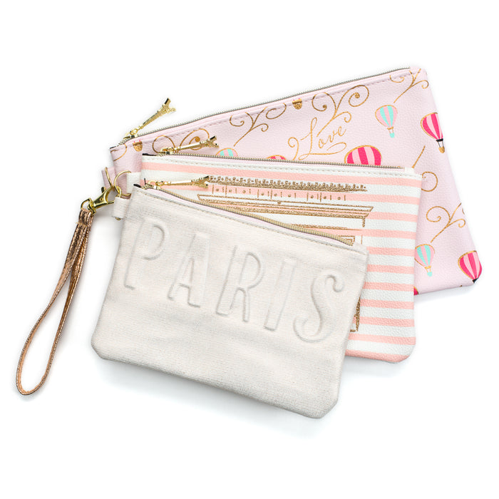 Paris Themed Wristlets - Set of 3