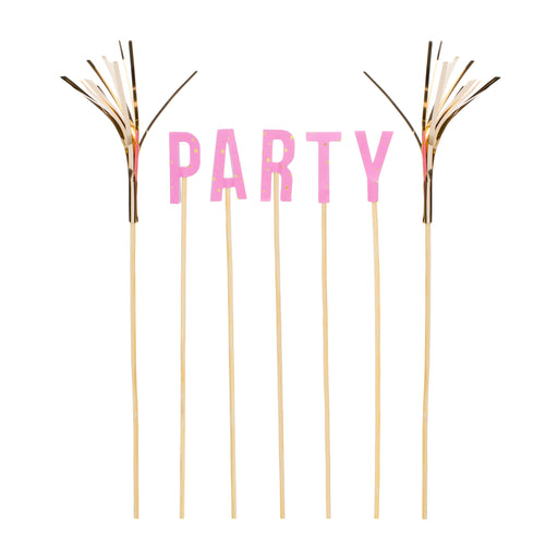 pink and gold party cake toppers posh and pop