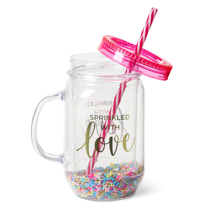 Mason Jar Cup - Sprinkles - Sprinkled With Love