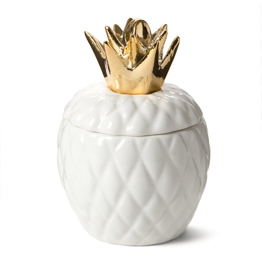 citrus sugar scented ceramic candle pineapple shaped