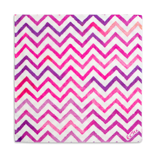 pink and purple chevron paper party napkins