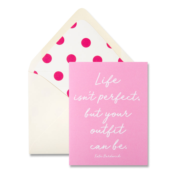 pink greeting card note card posh and pop