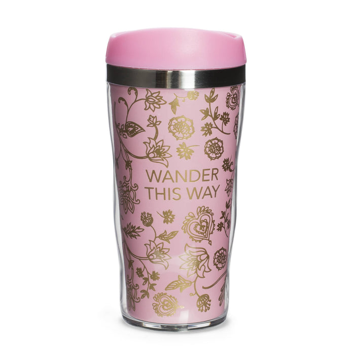 wander this way travel coffee mug posh and pop