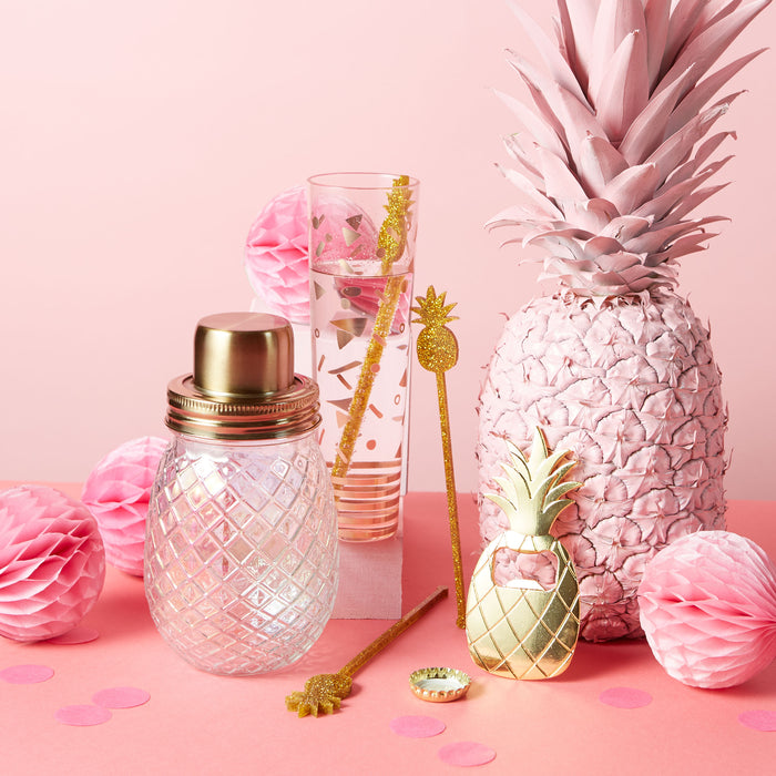 shaker-pineapple-glass-stirrers-plastic-glitter-pineapple-champagne-flute-posh-and-pop