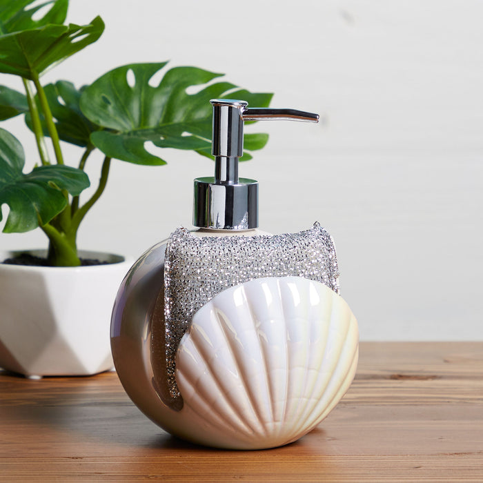 shell soap dispenser - lifestyle view - posh and pop