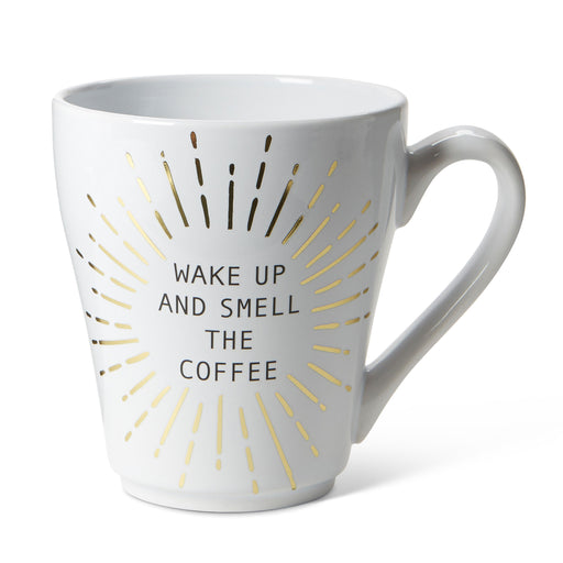 smell the coffee ceramic coffee mug posh and pop