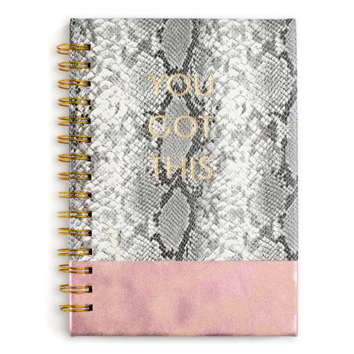 you got this snakeskin and pink hardcover spiral notebook posh and pop
