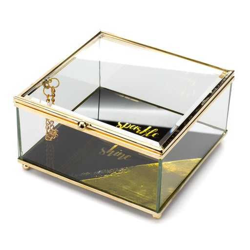 sparkle and shine jewelry box and catch all box posh and pop