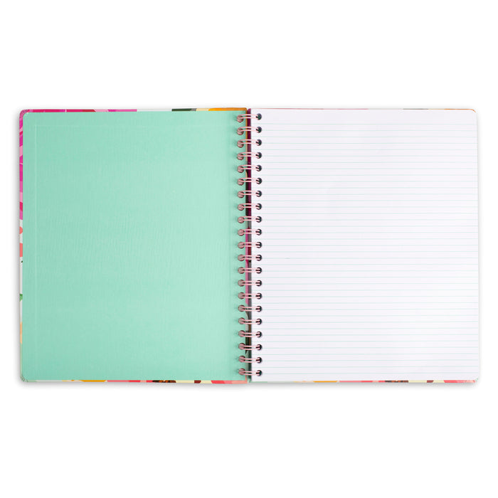 large spiral notebook marble blossom posh and pop