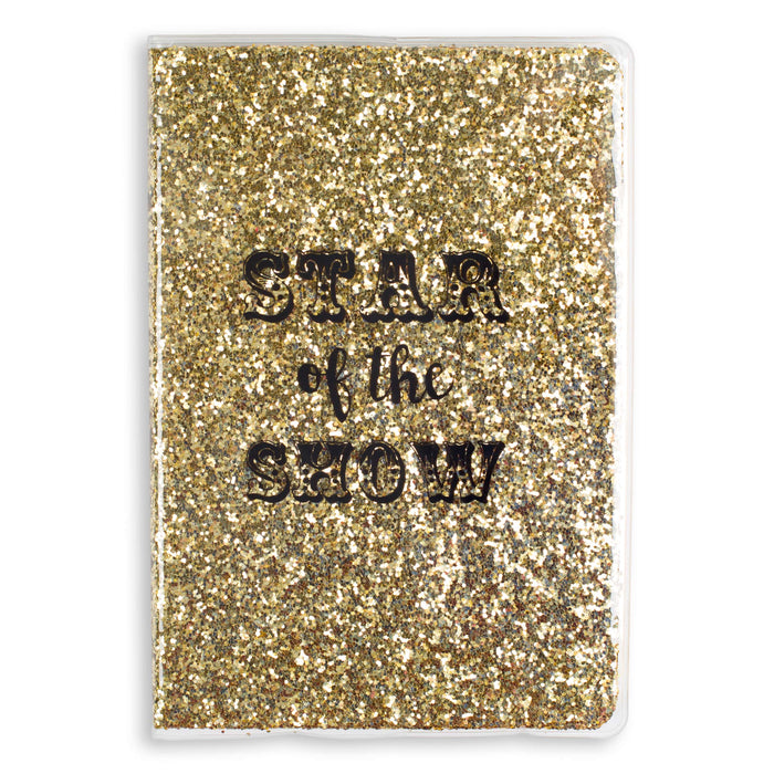 gold glitter bound journal star of the show posh and pop