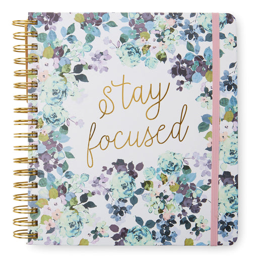 stay focused floral monthly planner, posh and pop