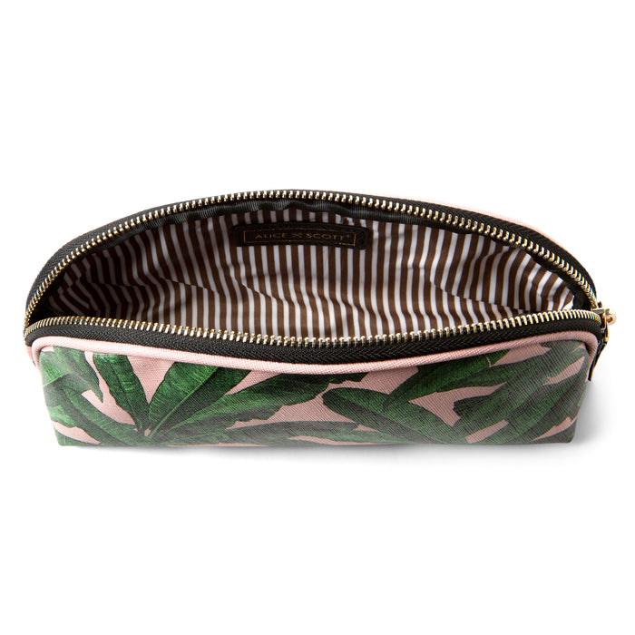 pink and green palm leaves pencil case posh and pop