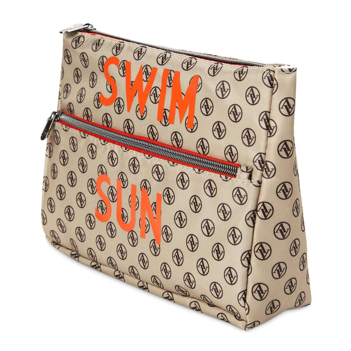 adrienne vittadini water proof bathing suit bag posh and pop
