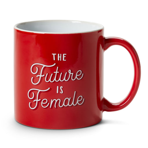 the future is female ceramic coffee mug posh and pop