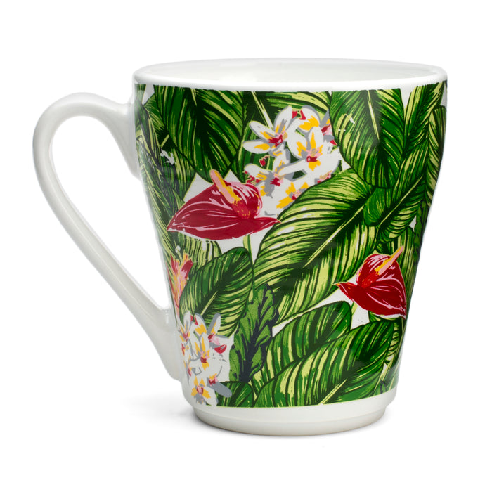 novelty mug, palm leaves, talk to the palm, summer vibes