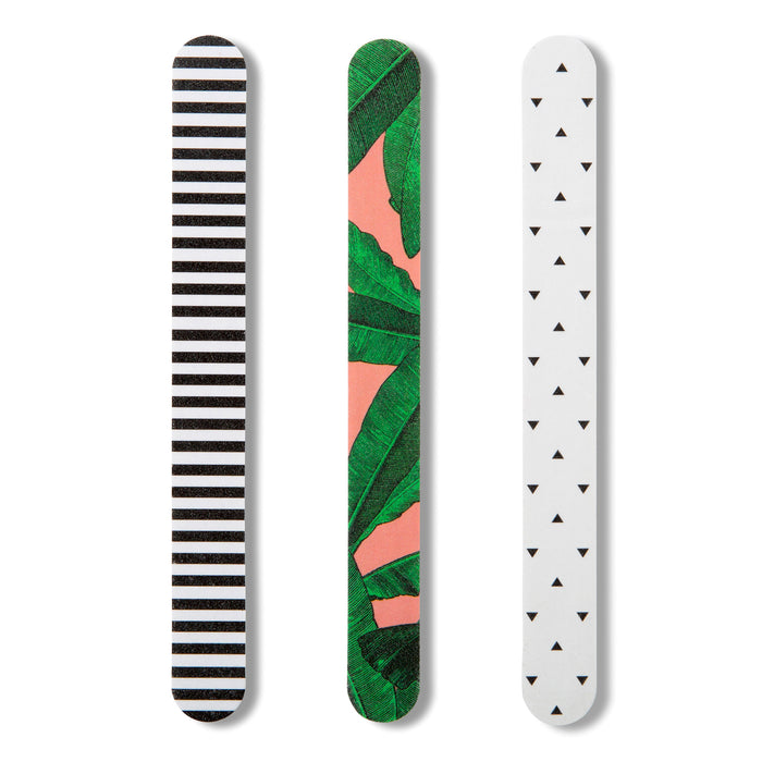 set of three cute tropical nail files posh and pop