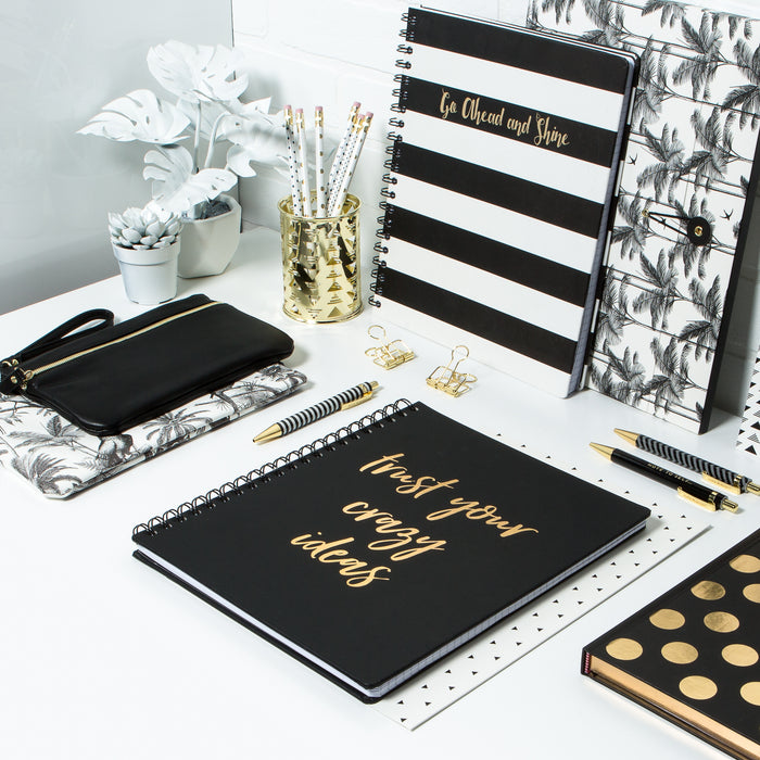 trust-your-crazy-ideas-notebooks-sprial-black-and-white-posh-and-pop