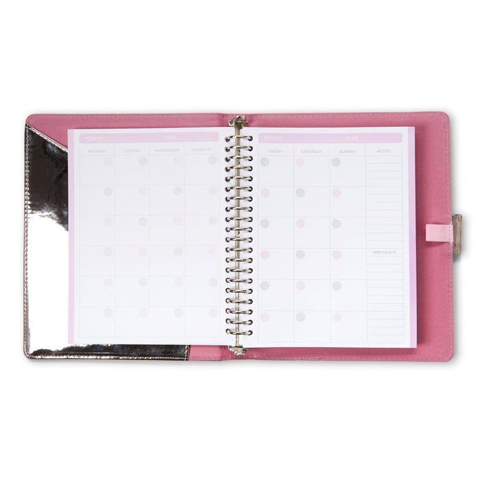undated monthly agenda with to do lists and notes posh and pop