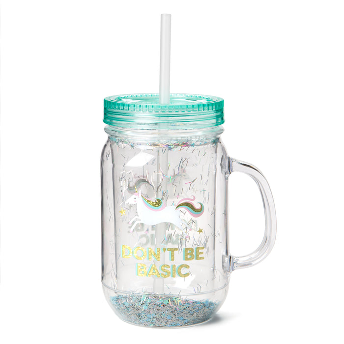 unicorn mason jar cup don't be basic posh and pop