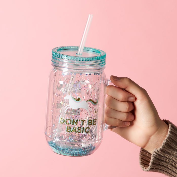 unicorn mason jar - lifestyle view - posh and pop