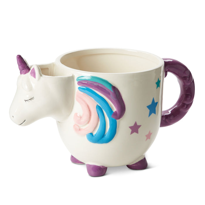 unicorn tea or coffee mug rainbow posh and pop
