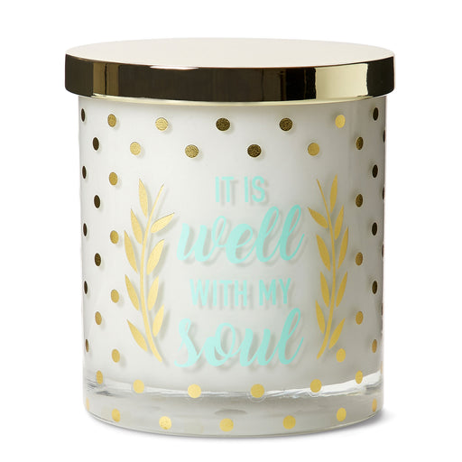 vanilla caramel scented glass jar candle posh and pop