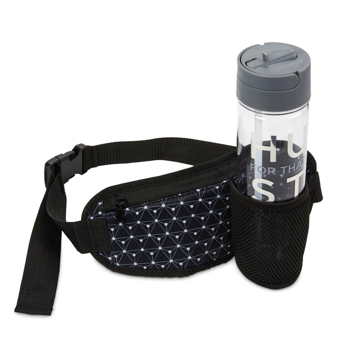 workout gift idea, water bottle, yoga towel, running fanny pack, and headbands, posh and pop