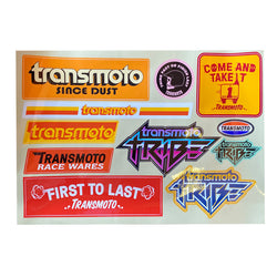 TRANSMOTO A4 STICKER SHEET