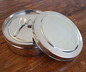 Stainless steel dabba masala box for Ayurveda cooking