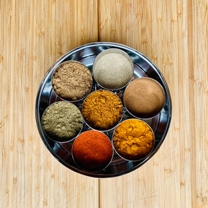 Masala box for Ayurveda spices