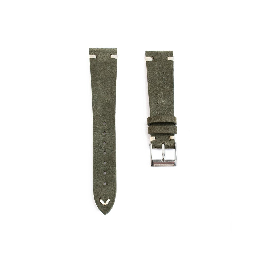 Dark green suede strap