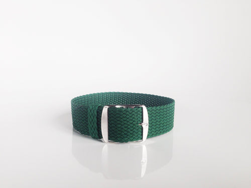 Green Perlon strap (18mm)