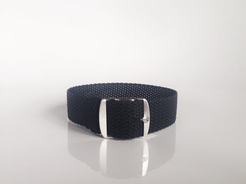 Black Perlon Strap (22mm)