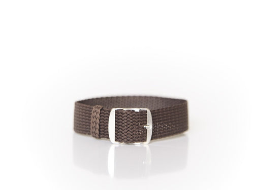 Brown Perlon strap (18mm)