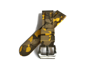 Yellow Camo Rubber Strap (24mm)