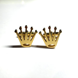 Crown cufflink (gold plated)