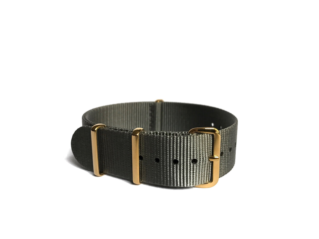 Gray NATO Strap (gold hardware)
