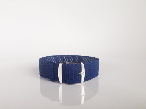 Blue Perlon Strap (22mm)