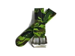 Green Camo Rubber Strap (24mm)