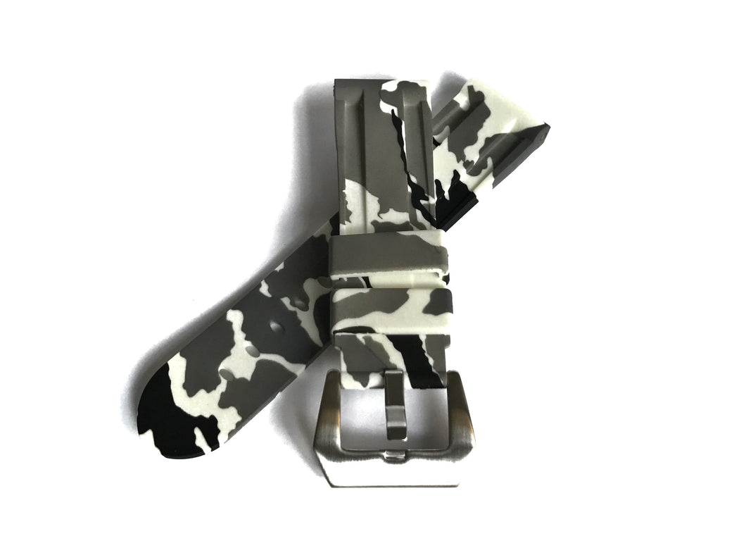 White Camo Rubber Strap (24mm)