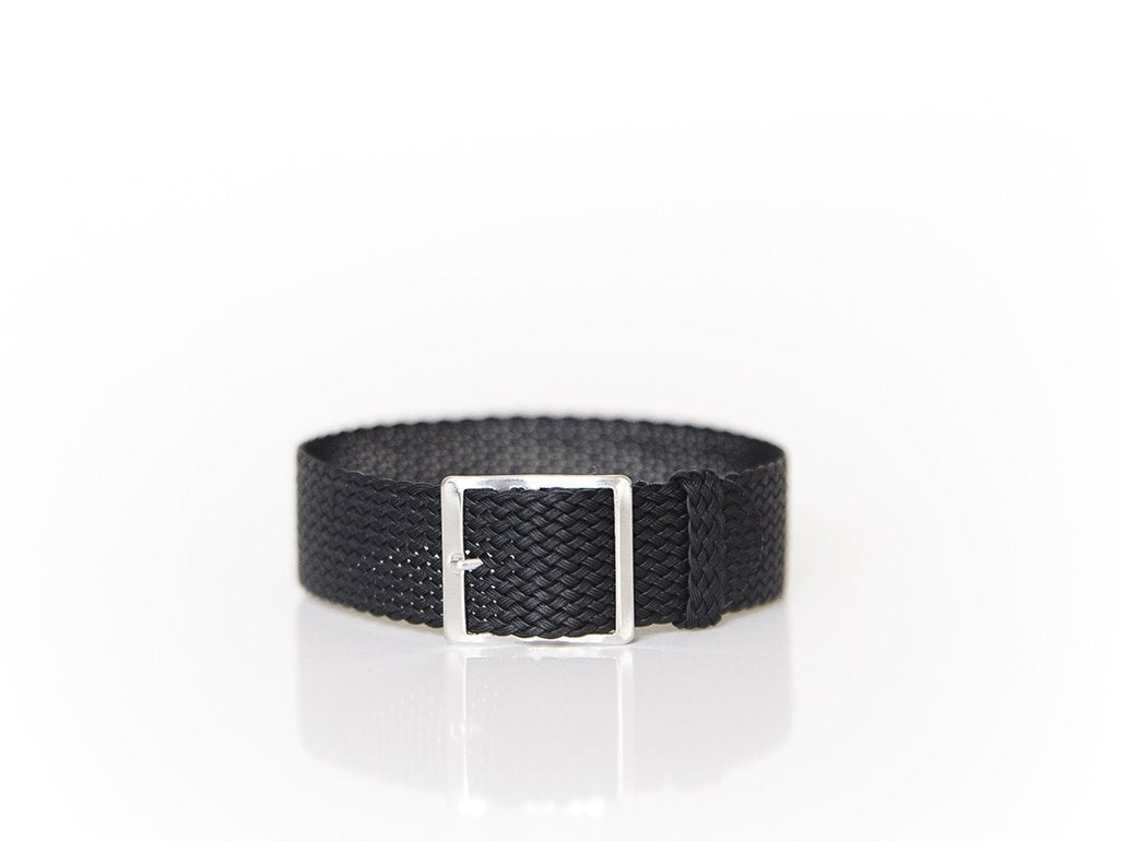 Black Perlon Strap (20mm)