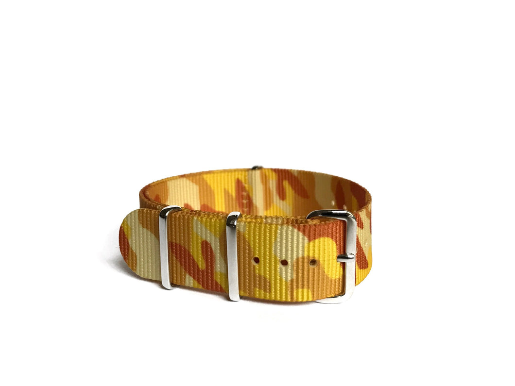 Yellow Camo NATO Strap (20mm)