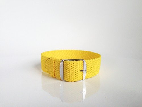 Yellow Perlon Strap (18mm)