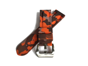 Orange Camo Rubber Strap (24mm)