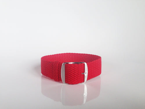 Red Perlon strap (18mm)