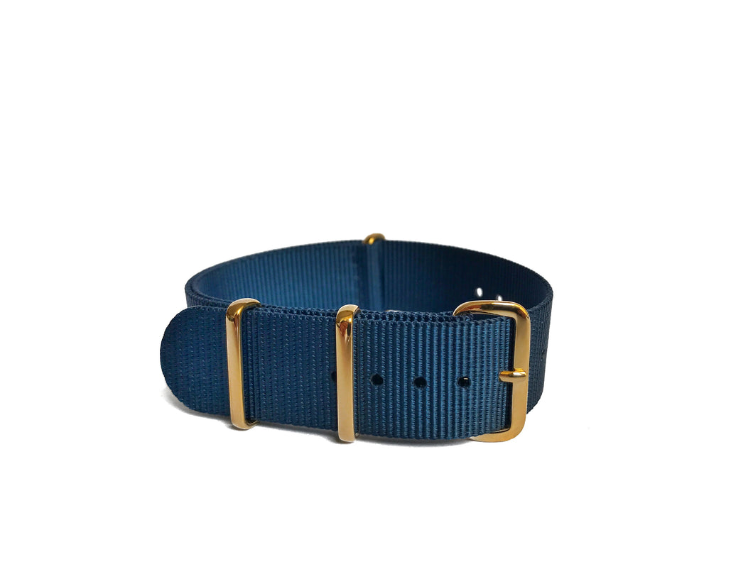 Blue NATO Strap (gold hardware)
