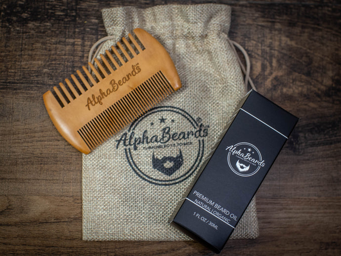 Alpha Beards Double Trouble (30ml Beard Oil  And Beard Comb)